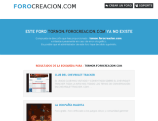 tornon.forocreacion.com screenshot