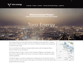 toroenergy.com.au screenshot
