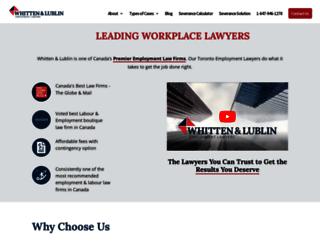 toronto-employmentlawyer.com screenshot