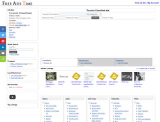 toronto.freeadstime.org screenshot