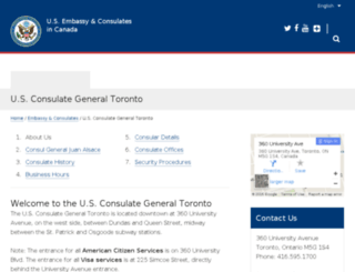 toronto.usconsulate.gov screenshot