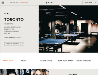 toronto.wearespin.com screenshot