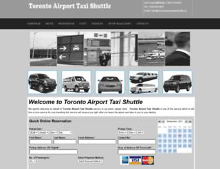 torontoairporttaxishuttle.com screenshot