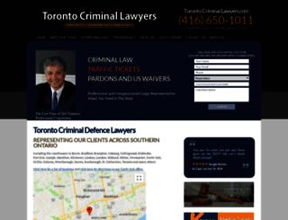 torontocriminallawyers.wethinkcentral.com screenshot