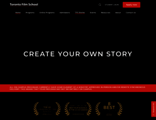 torontofilmschool.ca screenshot