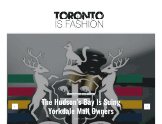 torontoisfashion.com screenshot