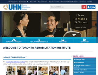 torontorehab.com screenshot