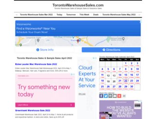 torontowarehousesales.com screenshot