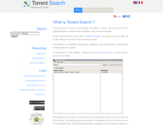 torrent-search.sourceforge.net screenshot