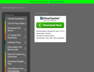 torrentzapproxy.com screenshot