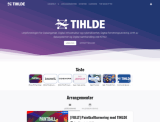 torsjoha.tihlde.org screenshot