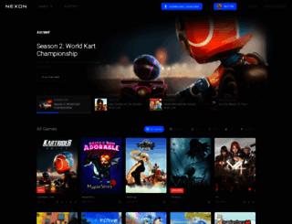 tos.nexon.com screenshot