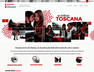 toscanafilmcommission.it screenshot