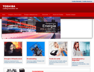 toshiba.com.mx screenshot