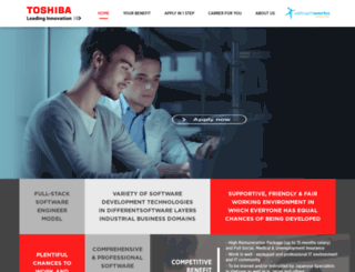 toshiba.vietnamworks.com screenshot
