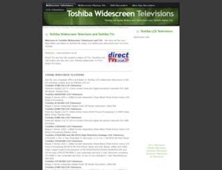 toshibatvs.widescreentelevisions.co.uk screenshot