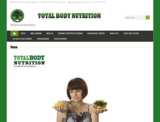 total-body-nutrition.com screenshot