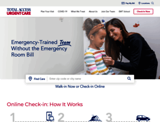 totalaccessurgentcare.com screenshot