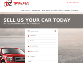 totalcarcollection.com.au screenshot
