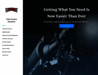 totalcinemasolutions.com screenshot