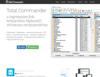 totalcommander.hu screenshot