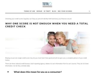 totalcreditchecks.com screenshot