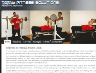 totalfitnesssolutions.co.uk screenshot