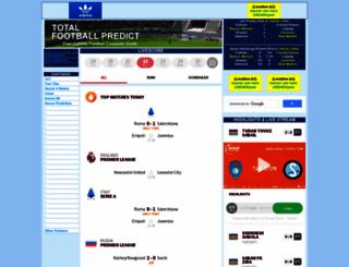 totalfootballpredict.com screenshot