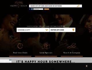 totalhappyhour.com screenshot