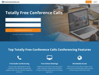 totallyfreeconferencecalls.com screenshot