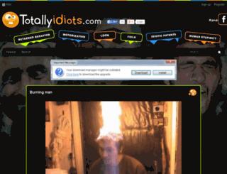 totallyidiots.com screenshot