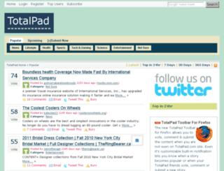 totalpad.com screenshot