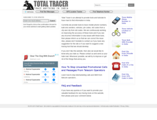 totaltracer.com screenshot