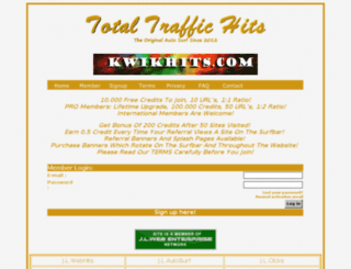 totaltraffichits.com screenshot