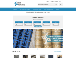 totofabrics.com screenshot