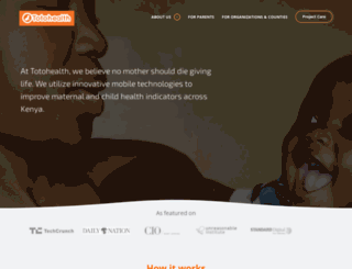 totohealth.org screenshot