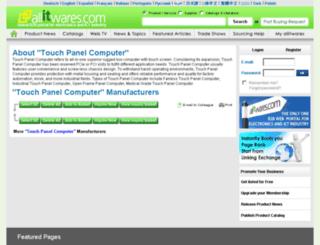 touch-panel-computer.allitwares.com screenshot