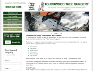 touchwoodtreesurgery.net screenshot