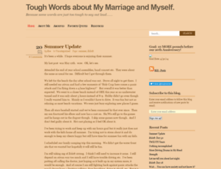toughwords.wordpress.com screenshot
