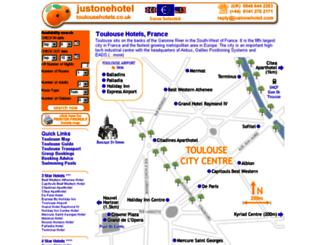 toulousehotels.co.uk screenshot