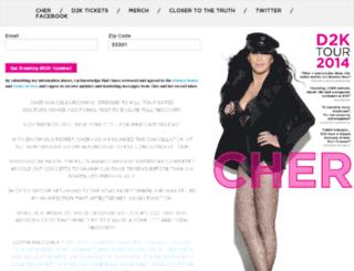 tour.cher.com screenshot