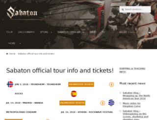 tour.sabaton.net screenshot
