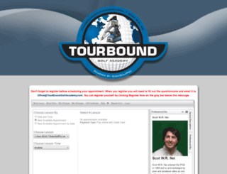 tourboundgolf.uschedule.com screenshot