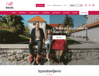 tourism-kranj.si screenshot