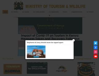 tourism.go.ke screenshot
