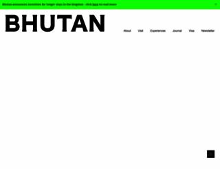 tourism.gov.bt screenshot