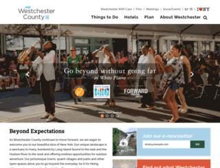 tourism.westchestergov.com screenshot