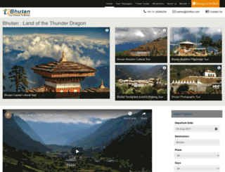 tourism2bhutan.com screenshot