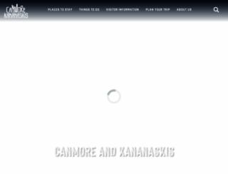 tourismcanmore.com screenshot