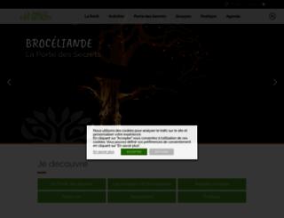 tourisme-broceliande.com screenshot